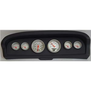61-66 Ford Truck Black Dash Carrier w/Auto Meter Ultra Lite Electric Gauges