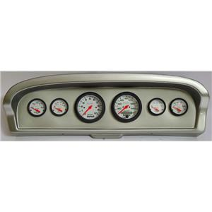 61-66 Ford Truck Silver Dash Carrier w/Auto Meter Phantom Electric Gauges
