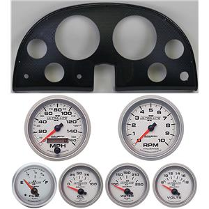 63-67 Corvette Carbon Dash Carrier w/ Auto Meter Ultra Lite II Gauges