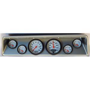 66 67 Nova Silver Dash Carrier w/ Auto Meter Phantom Electric Gauges