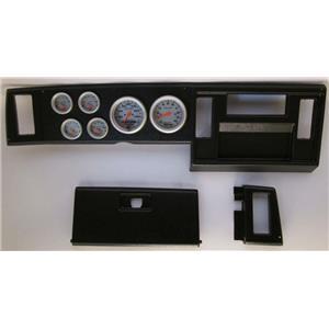 82-86 S10 Pickup Black Dash Carrier w/ Auto Meter Ultra Lite Electric Gauges