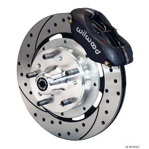 "Wilwood 68-74 Nova X-Body Front Disc Big Brake Kit 12"" Drilled Rotor Black"