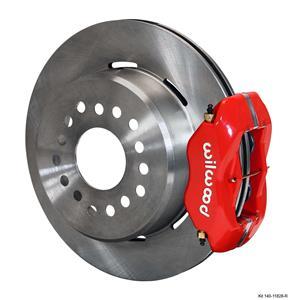 "Wilwood Rear Disc Brake Kit 59-64 Impala 12.19"" Plain Rotor Red Caliper"