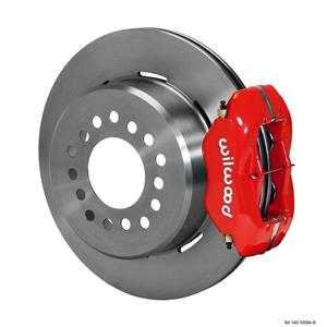 "Wilwood Rear Disc Brake Kit GM C10 w/ 2.42 Offset 12.19"" Plain Rotor Red Caliper"
