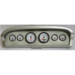 61-66 Ford Truck Silver Dash Carrier w/ Auto Meter Phantom II Gauges