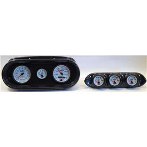 62-64 Nova Carbon Dash Carrier w/ Auto Meter Phantom II Gauges