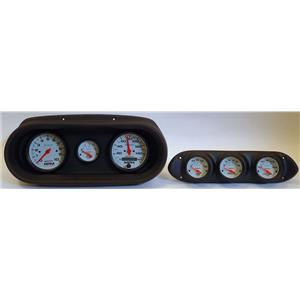 65 Nova Black Dash Carrier w/Auto Meter Phantom Electric Gauges