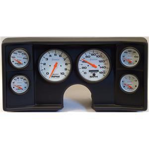 78-81 Chevy G Body Black Dash Carrier w/ Auto Meter Phantom Electric Gauges