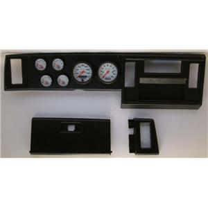 82-86 S10 Pickup Black Dash Carrier w/ Auto Meter  Phantom Electric Gauges