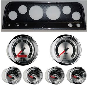 64 Chevy Truck Carbon Dash Carrier w/ Auto Meter American Muscle Gauges