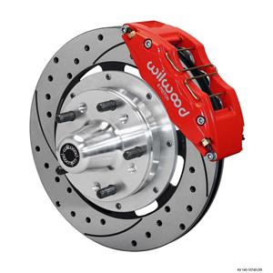 "Wilwood Mopar B & E Body Front Disc Big Brake Kit 12"" Drilled Rotor Red Caliper"