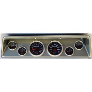 66 67 Nova Silver Dash Carrier w/ Auto Meter Sport Comp II Gauges