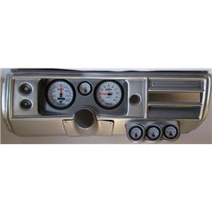 "68 Chevelle Silver Dash Carrier w/ Auto Meter 5"" Phantom II Gauges No Astro"