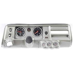 "68 Chevelle Silver Dash Carrier 5"" Sport Comp Electric Gauges w/ Astro"