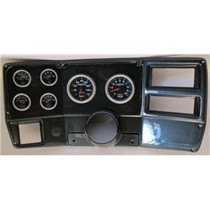 84-87 Chevy Truck Carbon Dash Carrier w/ Auto Meter Sport Comp II Gauges