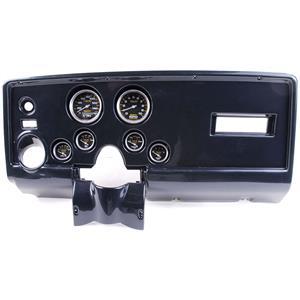 69 Pontiac Firebird Carbon Dash Carrier w/ Auto Meter Carbon Fiber Gauges