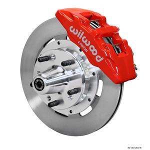 "Wilwood 78-88 Monte Carlo Front Disc Brake Kit 12.19"" Plain Rotor Red"