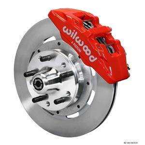 "Wilwood 64-72 Chevelle A-Body Front Disc Brake Kit 12"" Plain Rotor Red Caliper"