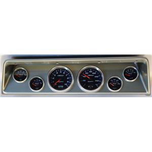 66 67 Nova Silver Dash Carrier w/ Auto Meter Cobalt Gauges