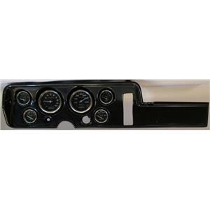68 GTO Carbon Dash Carrier w/ Auto Meter Carbon Fiber Gauges