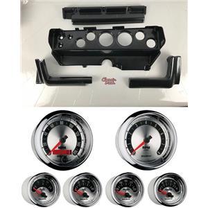70-74 Mopar E-Body Carbon Dash Gauge Carrier Auto Meter American Muscle Gauges