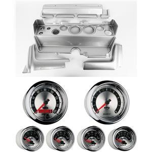 70-74 Mopar E-Body Silver Dash Gauge Carrier Auto Meter American Muscle Gauges