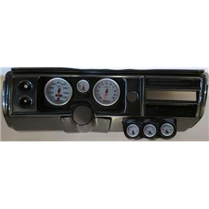 "68 Chevelle Carbon Dash Carrier w/ Auto Meter 5"" Ultra Lite II Gauges No Astro"