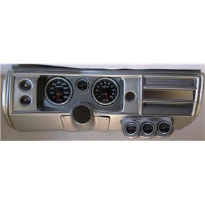 "68 Chevelle Silver Dash Carrier w/ Auto Meter 5"" Sport Comp II Gauges No Astro"