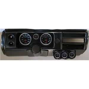 "68 Chevelle Carbon Dash Carrier w/ Auto Meter 5"" Sport Comp II Gauges No Astro"