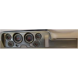 68 GTO Silver Dash Carrier w/Auto Meter Ultra Lite Electric Gauges