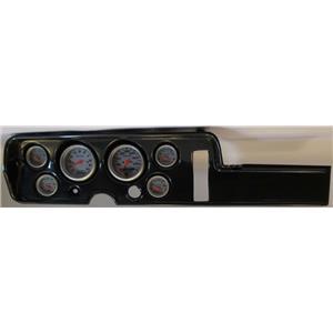 68 GTO Carbon Dash Carrier w/ Auto Meter Ultra Lite Electric Gauges