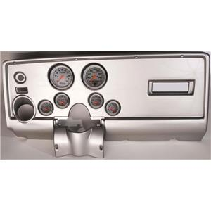 69 Pontiac Firebird Silver Dash Carrier w/ Auto Meter Ultra Lite Electric Gauges