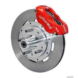 "Wilwood Big Brake 65-69 Ford Front Disc Brake Kit 12.19"" Plain Rotor Red Caliper"