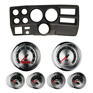 """84-87 Chevy Truck Black Dash Carrier w/ Auto Meter American Muscle Gauges 5"""""""
