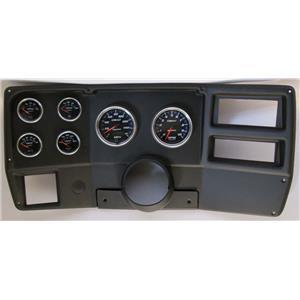84-87 Chevy Truck Black Dash Carrier w/ Auto Meter Cobalt Gauges