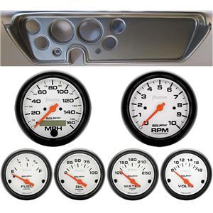 67 GTO Silver Dash Carrier w/Auto Meter Phantom Electric Gauges