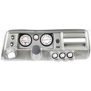 "68 Chevelle Silver Dash Carrier Auto Meter 5"" Phantom Electric Gauges w/ Astro"