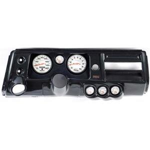 "68 Chevelle Carbon Dash Carrier Auto Meter 5"" Phantom Electric Gauges w/ Astro"