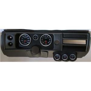 "68 Chevelle Black Dash Carrier w/ Auto Meter 5"" Sport Comp II Gauges No Astro"