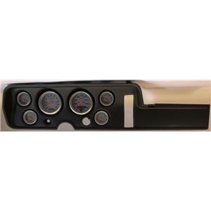 68 GTO Black Dash Carrier w/Auto Meter Ultra Lite Electric Gauges