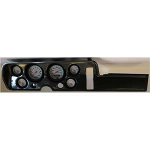 68 GTO Carbon Dash Carrier w/ Auto Meter Phantom Electric Gauges