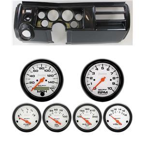 69 Chevelle Carbon Dash Carrier Auto Meter Phantom Electric Gauges w/ Astro