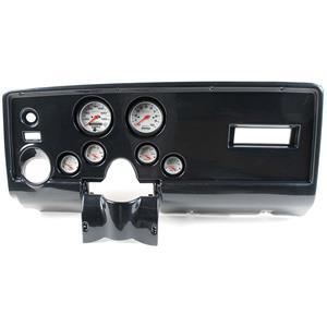69 Pontiac Firebird Carbon Dash Carrier w/ Auto Meter Phantom Electric Gauges
