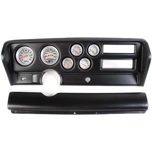 70-72 GTO Black Dash Carrier w/Auto Meter Ultra Lite Electric Gauges
