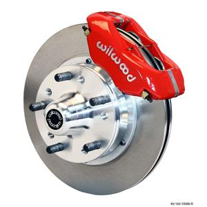 "Wilwood 67-69 Camaro Firebird Front Disc Brake Kit 11"" Plain Rotor Red Caliper"