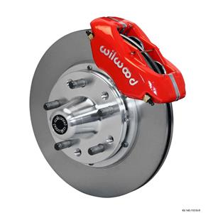 "Wilwood 84-86 Mustang Front Disc Brake Kit 11"" Plain Rotor Red Caliper"
