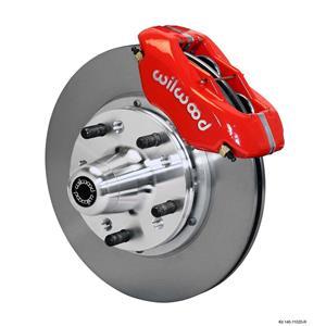 """Wilwood Mopar B & E Body Front Disc Brake Kit 11"""" Plain Rotor Red Caliper"""