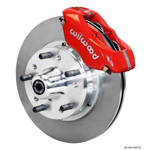 "Wilwood 70-78 Camaro Firebird Front Disc Brake Kit 11"" Plain Rotor Red Caliper"