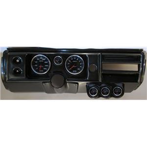 """68 Chevelle Carbon Dash Carrier w/ Auto Meter 5"""" Cobalt Gauges No Astro"""