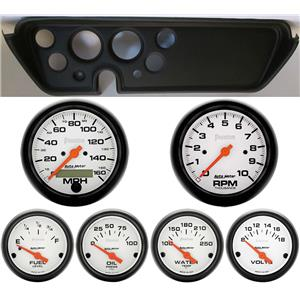 67 GTO Black Dash Carrier w/Auto Meter Phantom Electric Gauges